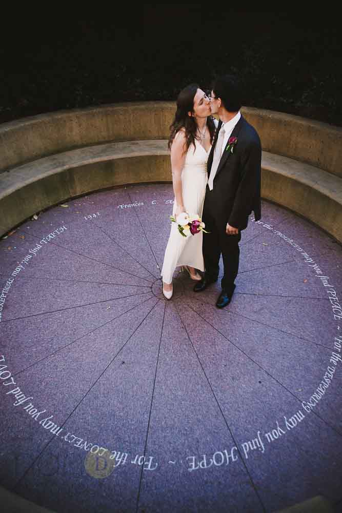 Bride and Groom at Stanford University
