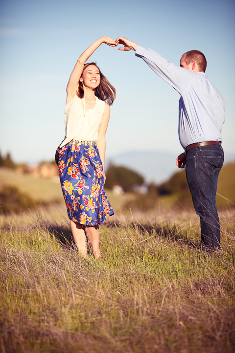 engagement Couple in Los Altos Hills photo