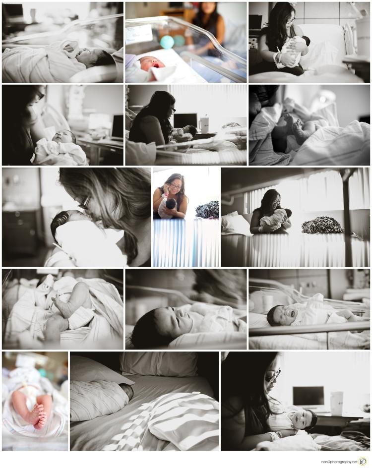 Newborn Baby Hospital Bay Area Birth Photography photo