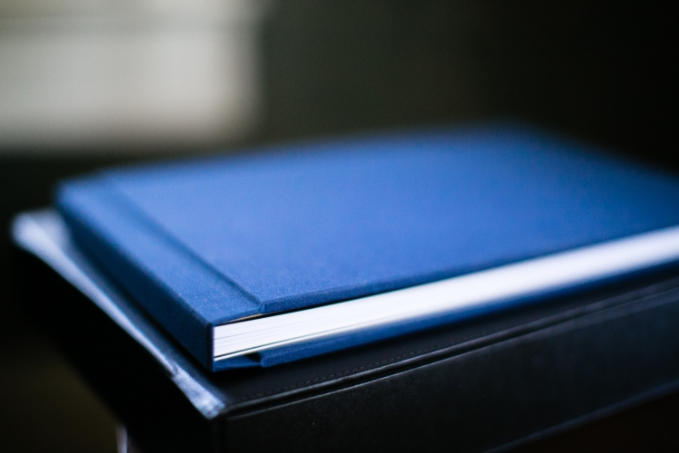 My linen book. Slightly smaller than a full  leather wedding album ,parent books are a beautiful way to say thank-you to your parents, whether just for raising you right or for all they did to make your wedding day a beautiful success.