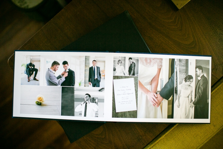 Good wedding album design doesn't just consist of cramming as many pictures as possible into a finite space. Storyline and design sense, as well as technical understanding of image quality and color play important roles.