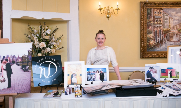 Nan Doud Photography booth at The Princeton Wedding Show at The Nassau Inn in Princeton New Jersey.